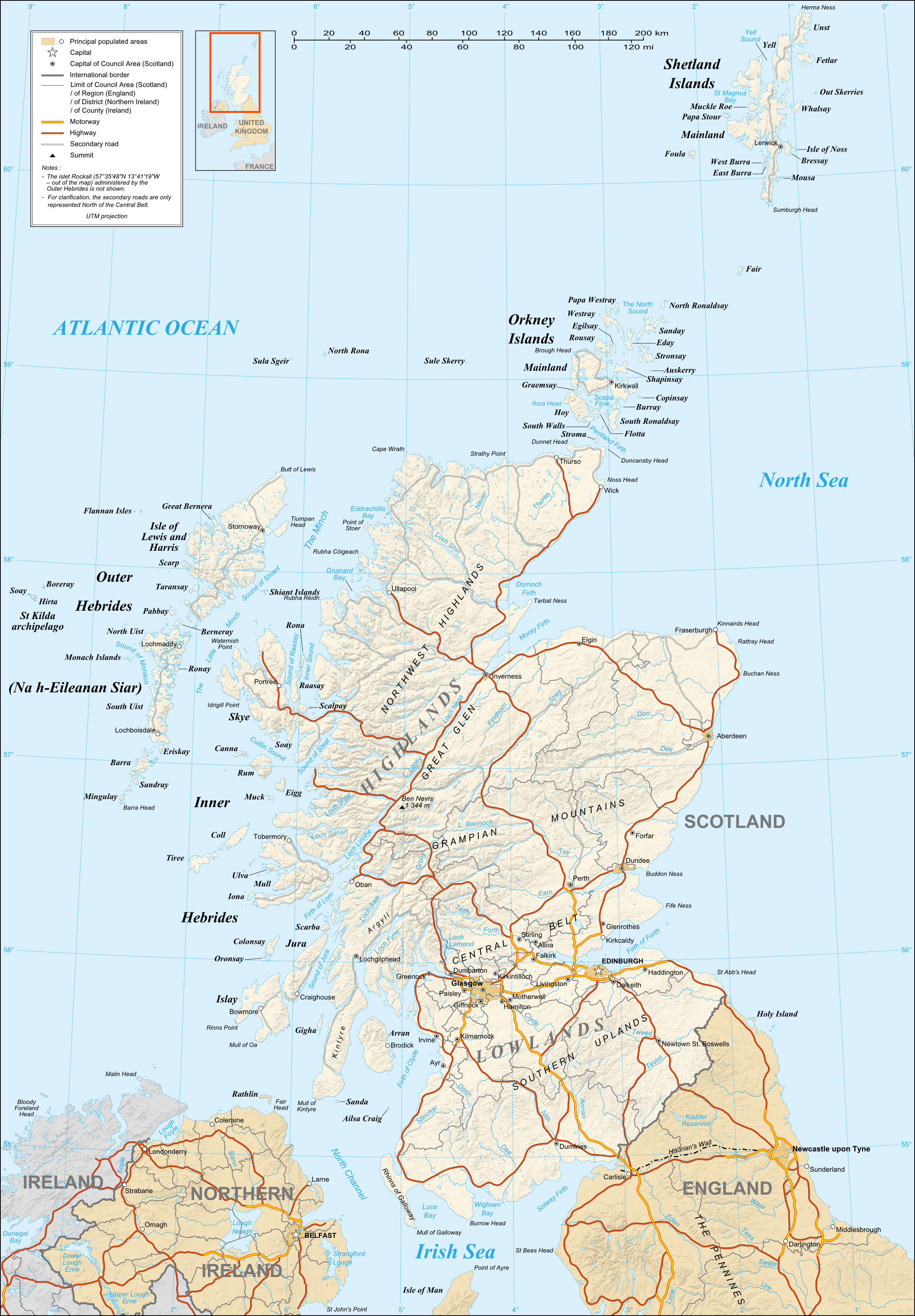 Leisure and Tourism Management Arlt – Scotland Tourist Map